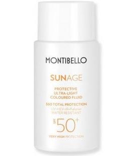 Montibello Soleil de l'Âge de Protection Ultra Léger, Coloré, Fluide SPF 50+ 50ml