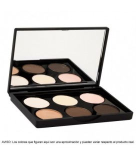 Stage Line Sphere Eye Shadow Palette 6 Shades Nude