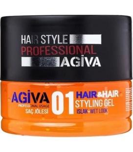 Agiva 01 Hair&Hair Styling Gel Wet Look 200 Ml