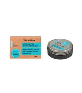 Be Organic facial Cream Cocoa Butter & Hyaluronic Acid 50ml